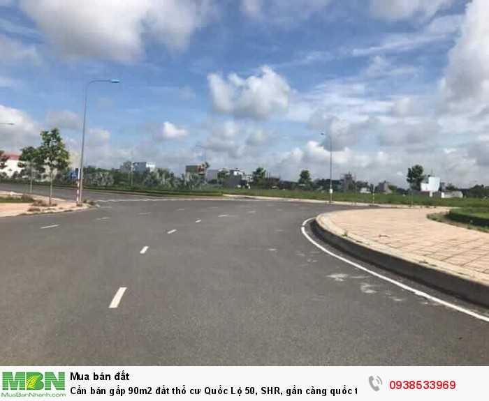 Cần bán gấp 90m2 đất thổ cư Quốc Lộ 50, SHR, gần cảng quốc tế Tân Tập.