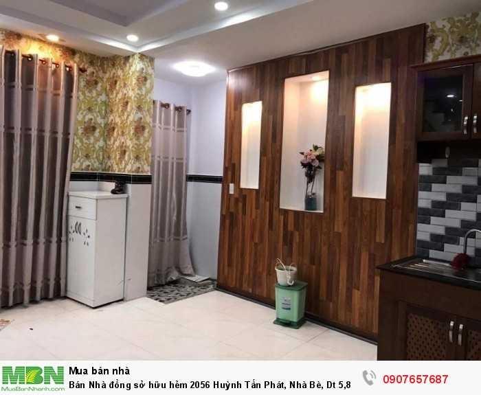 Bán Nhà đồng sở hữu hẻm 2056 Huỳnh Tấn Phát, Nhà Bè, Dt 5,8x6m, 2 tầng.