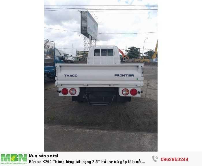 Bán xe K250 Thùng lửng tải trọng 2.5T hỗ trợ trả góp lãi suất thấp.