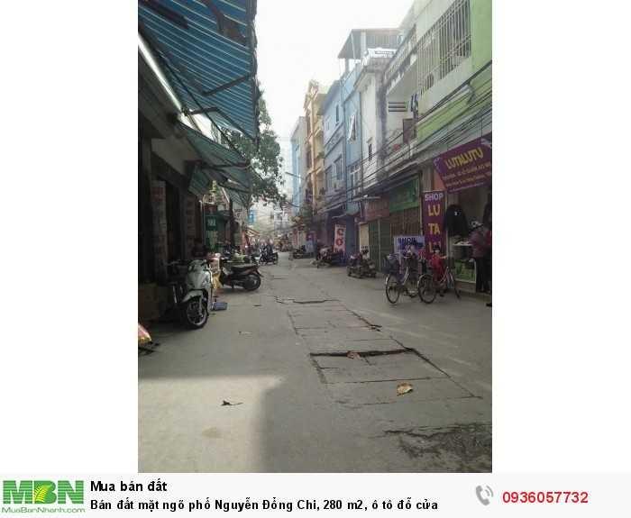Bán đất mặt ngõ phố Nguyễn Đổng Chi, 280 m2, ô tô đỗ cửa