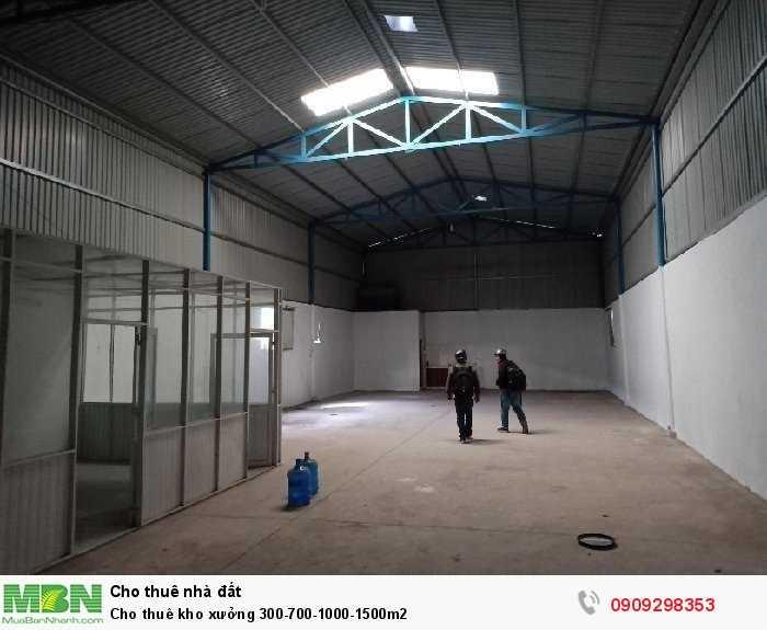 Cho thuê kho xưởng 300-700-1000-1500m2