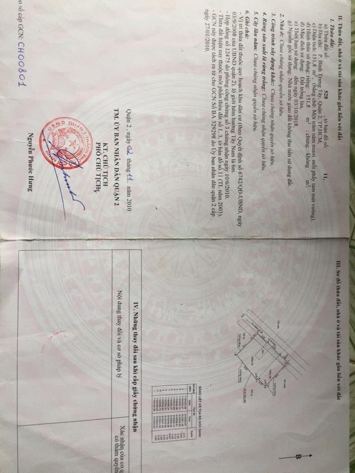 Nhà Đẹp Quận 2 Chỉ 1,83 Tỷ- 120M2, Hẻm 22 Nguyễn Duy Trinh