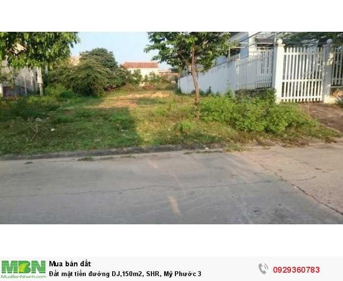 Đất mặt tiền đường DJ,150m2, SHR, Mỹ Phước 3, Bình Dương