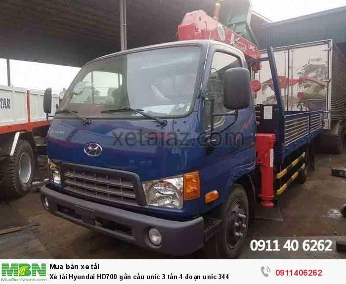 Xe tải Hyundai HD700 gắn cẩu unic 3 tấn 4 đoạn unic 344 2