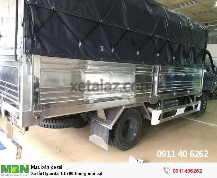 Xe tải Hyundai HD700 thùng mui bạt 5