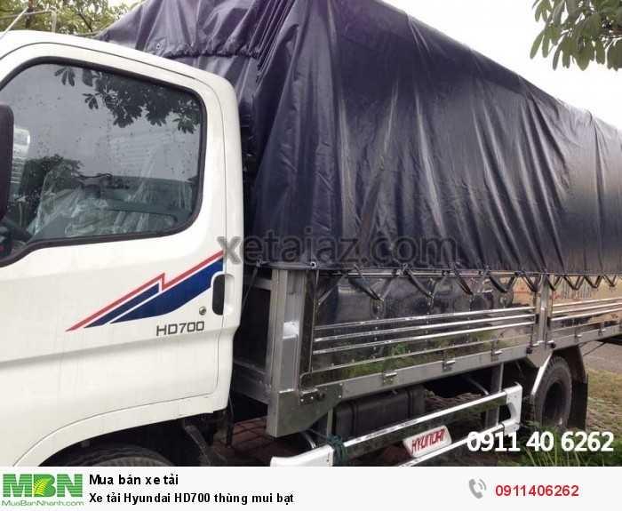 Xe tải Hyundai HD700 thùng mui bạt 6