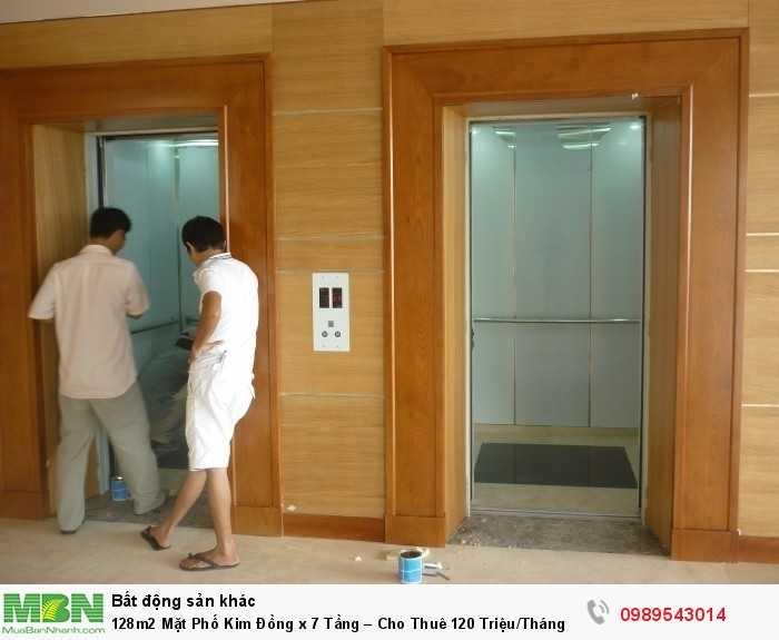 128m2 Mặt Phố Kim Đồng x 7 Tầng – Cho Thuê 120 Triệu/Tháng