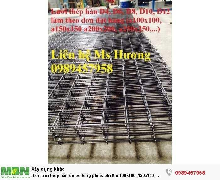 Bán lưới  thép hàn đổ bê tông phi 6, phi 8 ô 100x100, 150x150, 200x200, 250x250 tại Hà Giang giá rẻ nhất2
