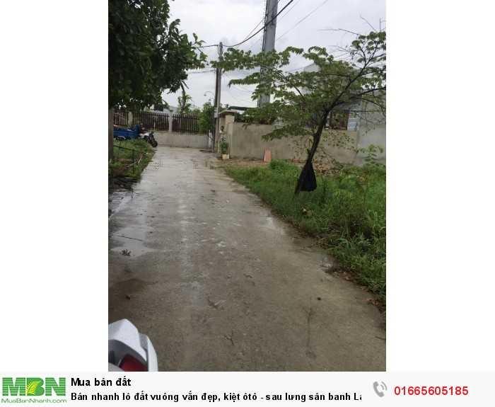 Bán nhanh lô đất vuông vắn đẹp, kiệt ôtô - sau lưng sân banh Lại Thế, Phú Thượng, Phú Vang
