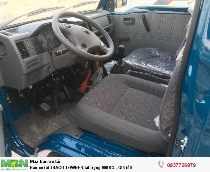 Bán xe tải THACO TOWNER tải trọng 990KG - Giá tốt!