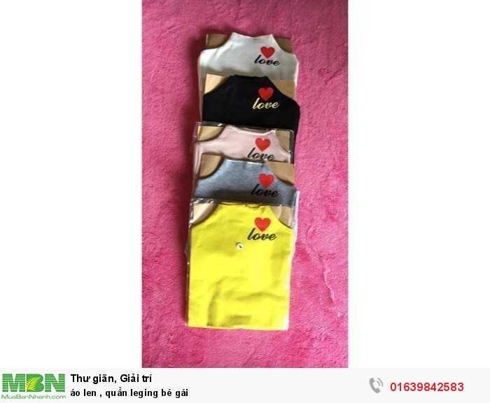 Áo len, quần leging bé gái1