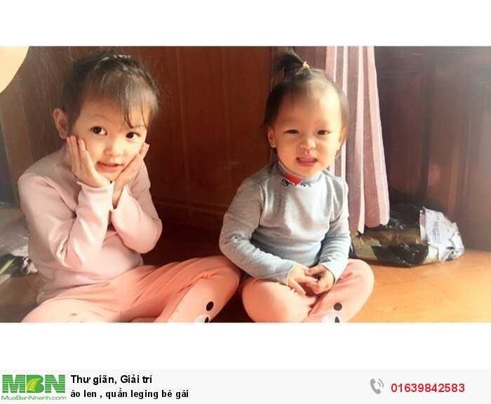 Áo len, quần leging bé gái3