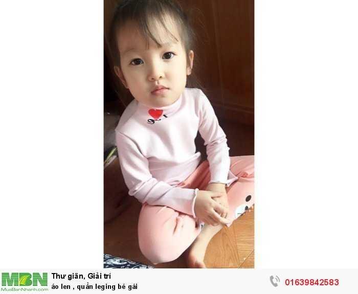 Áo len, quần leging bé gái4