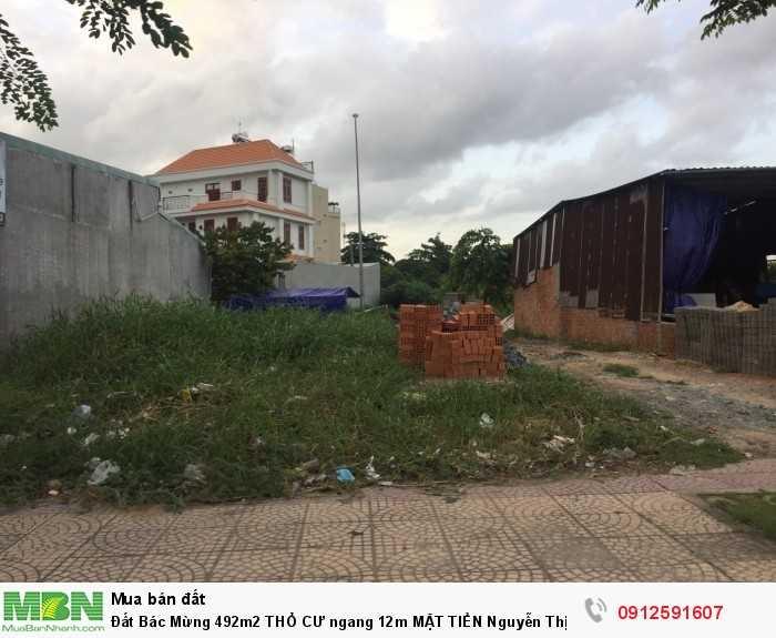 Đất Bác Mừng 492m2 THỔ CƯ ngang 12m MẶT TIỀN Nguyễn Thị Tú , Bình Tân GIÁ RẺ