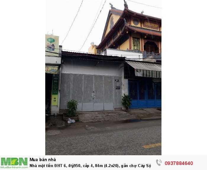 Nhà mặt tiền ĐHT 6, 4tỷ7, 84m (4.2x20), gần chợ Cây Sộp, p.Tân Hưng Thuận