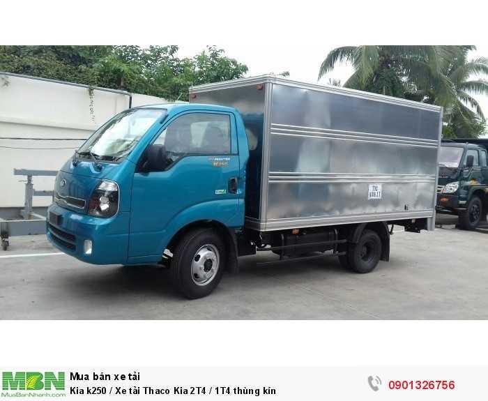 Kia k250 / Xe tải Thaco Kia 2T4 / 1T4 thùng kín