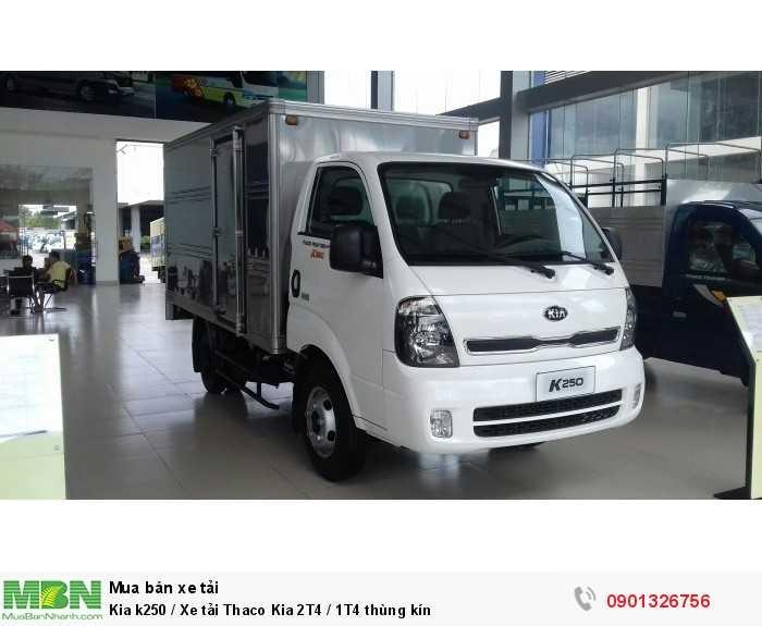 Kia k250 / Xe tải Thaco Kia 2T4 / 1T4 thùng kín 4