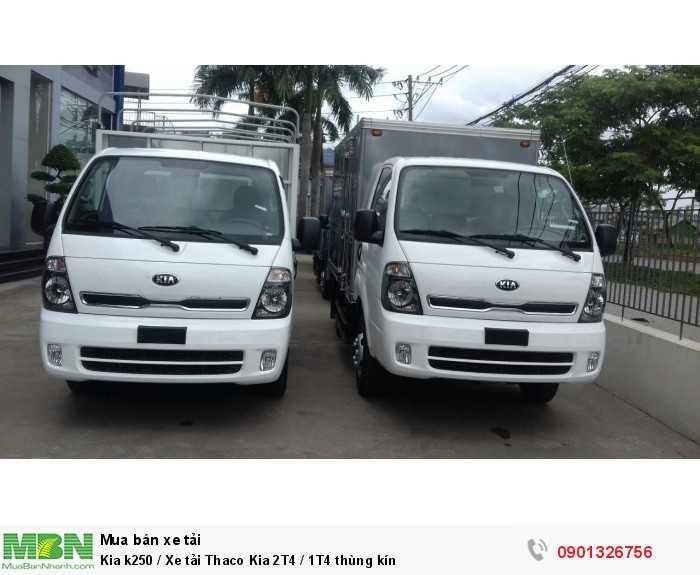 Kia k250 / Xe tải Thaco Kia 2T4 / 1T4 thùng kín 8