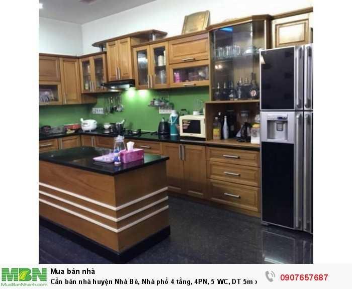 Cần bán nhà huyện Nhà Bè, Nhà phố 4 tầng, 4PN, 5 WC, DT 5m x 20m