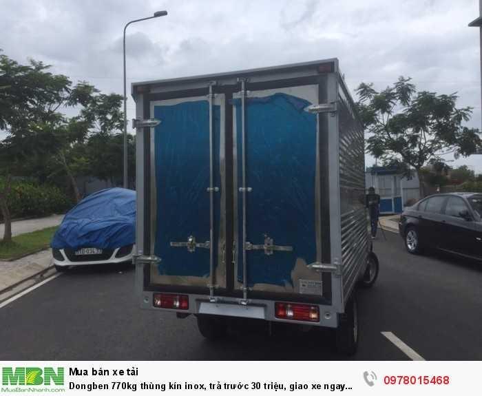 Dongben 770kg thùng kín inox, trả trước 30 triệu, giao xe ngay trong ngày. 1
