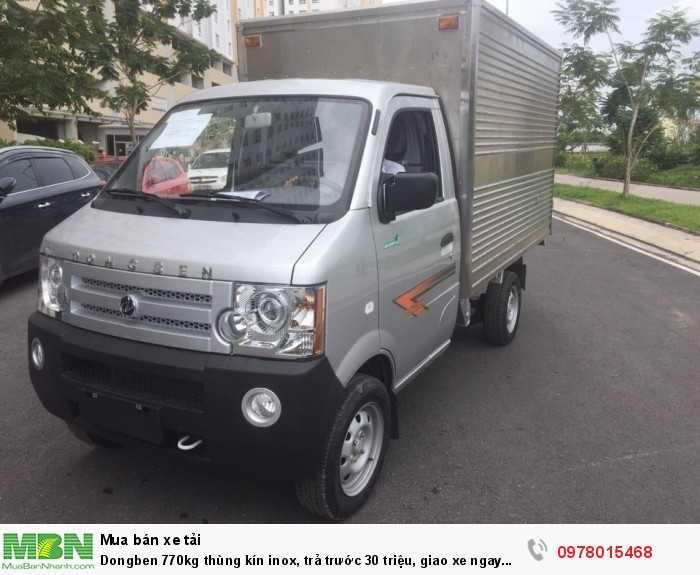 Dongben 770kg thùng kín inox, trả trước 30 triệu, giao xe ngay trong ngày. 3