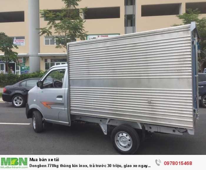 Dongben 770kg thùng kín inox, trả trước 30 triệu, giao xe ngay trong ngày. 4