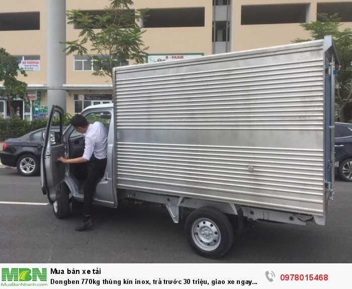 Dongben 770kg thùng kín inox, trả trước 30 triệu, giao xe ngay trong ngày. 5
