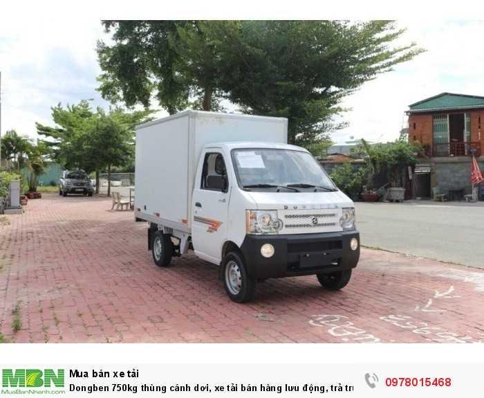 Bán xe tải Dongben 750kg thùng cánh dơi, xe tải bán hàng lưu động, trả trước 30 triệu - Giao xe ngay - Gọi 0978015468 (Mr Giang 24/24)