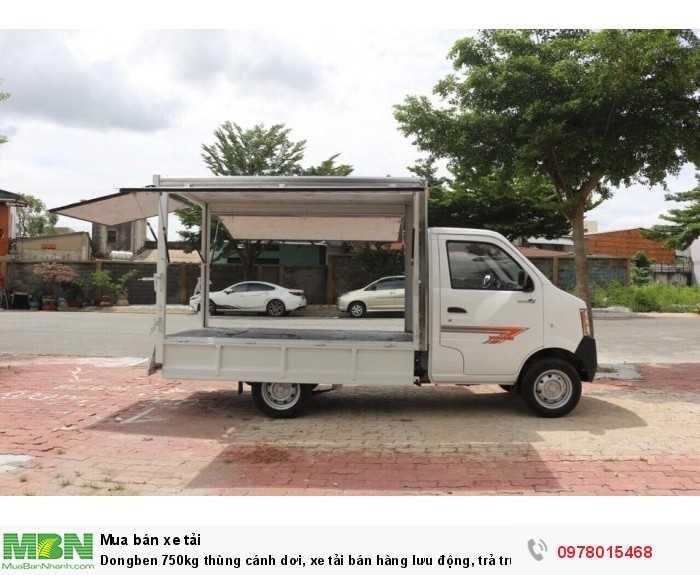 Khuyến mãi khi mua xe tải Dongben 750kg thùng cánh dơi, xe tải bán hàng lưu động, trả trước 30 triệu - Giao xe ngay - Gọi 0978015468 (Mr Giang 24/24)