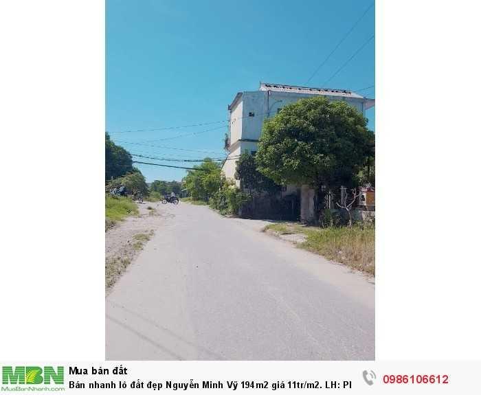 Bán nhanh lô đất đẹp Nguyễn Minh Vỹ 194m2 giá 11tr/m2.