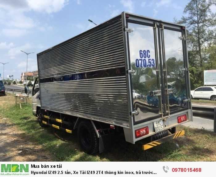 Xe tải Hyundai IZ49 2.5 tấn, thùng kín inox, trả trước 80 triệu, giao xe ngay - Gọi 0978015468 (Mr Giang 24/24)
