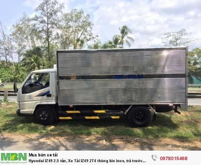 Khuyến mãi mua xe tải Hyundai IZ49 2.5 tấn, thùng kín inox, trả trước 80 triệu - Gọi 0978015468 (Mr Giang 24/24)