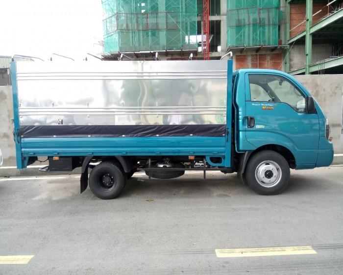 Xe tải 2.4 tấn KIA FRONTIER K250 (KIA K250) mui bạt, màu xanh dương, động cơ HYUNDAI EURO 4, hỗ trợ trả góp