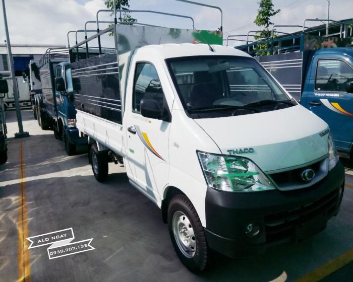 Xe tải 990 kg THACO TOWNER 990 mui bạt, màu trắng, máy SUZUKI, hỗ trợ trả góp 75%