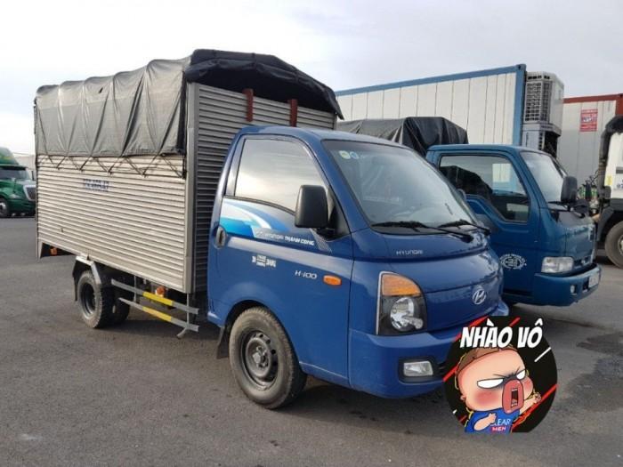 Xe tải Hyundai H150 thùng mui bạt, tải 1 tấn 5, trả trước 50 triệu giao xe ngay - Gọi 0978015468 (24/24)