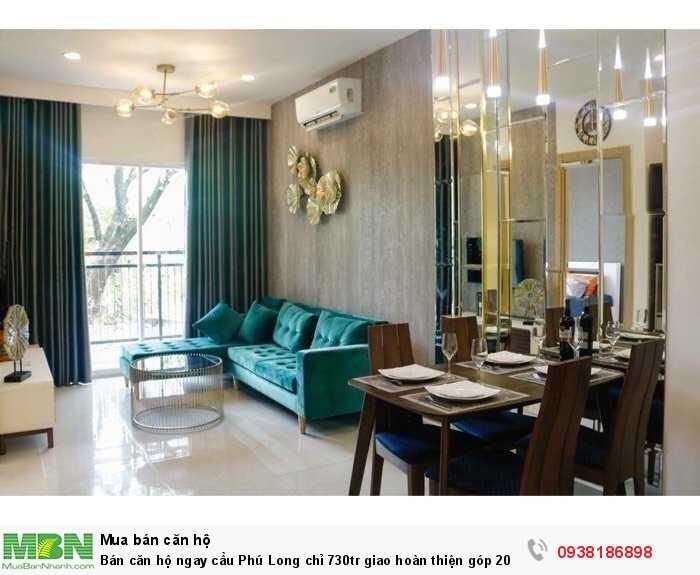 Bán căn hộ ngay cầu Phú Long chỉ 730tr giao hoàn thiện góp 20 năm.