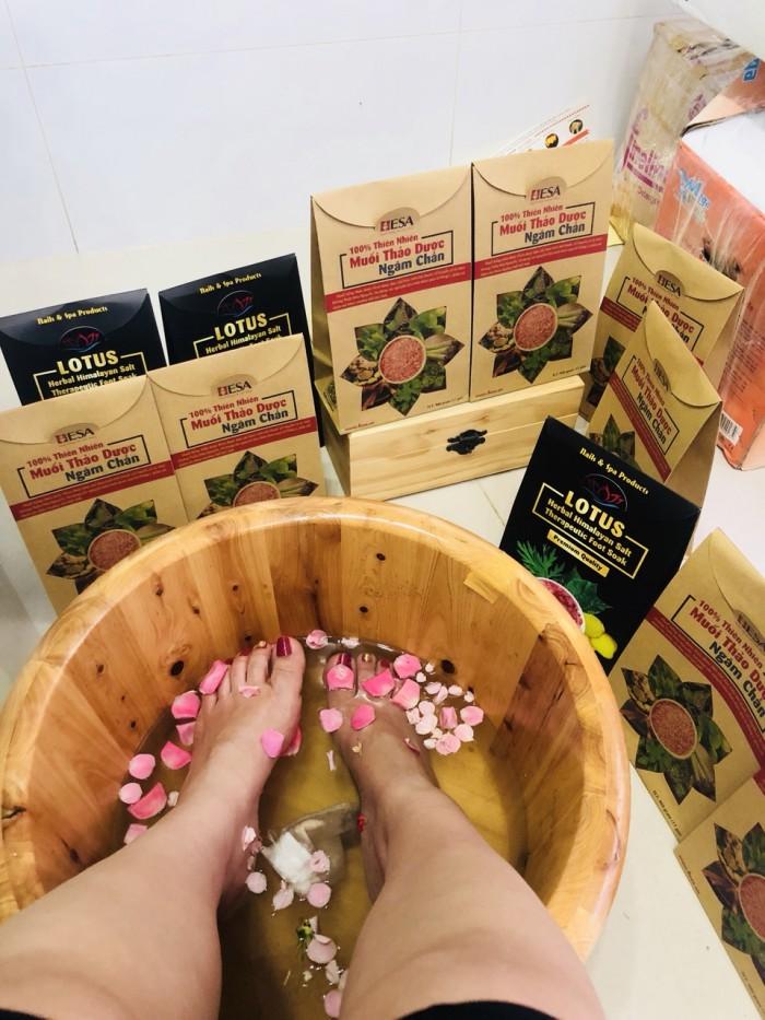 Muối hồng thảo dược ngân chân