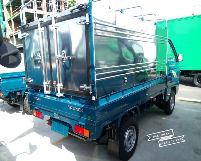 Xe tải 900 kg THACO TOWNER mui bạt, màu xanh, máy EURO 4, hỗ trợ trả góp