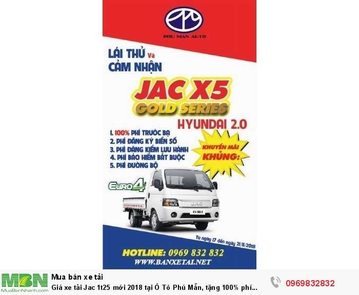 mua xe tải Jac X5 1t25 - Hotline  Mr Độ  0969 832 832
