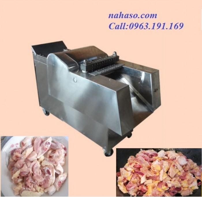 Máy chặt gà, chặt xương sườn lợn công nghiệp1