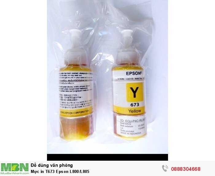 Mực in T673 Epson L800/L8053