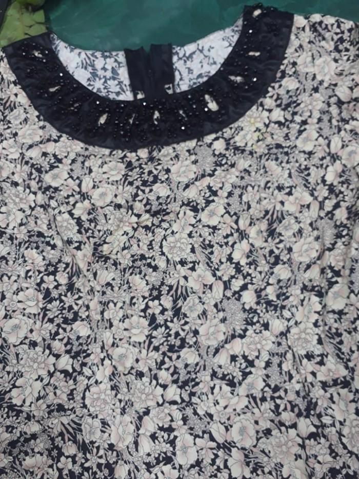 Đầm hoa công sở mshuyen011