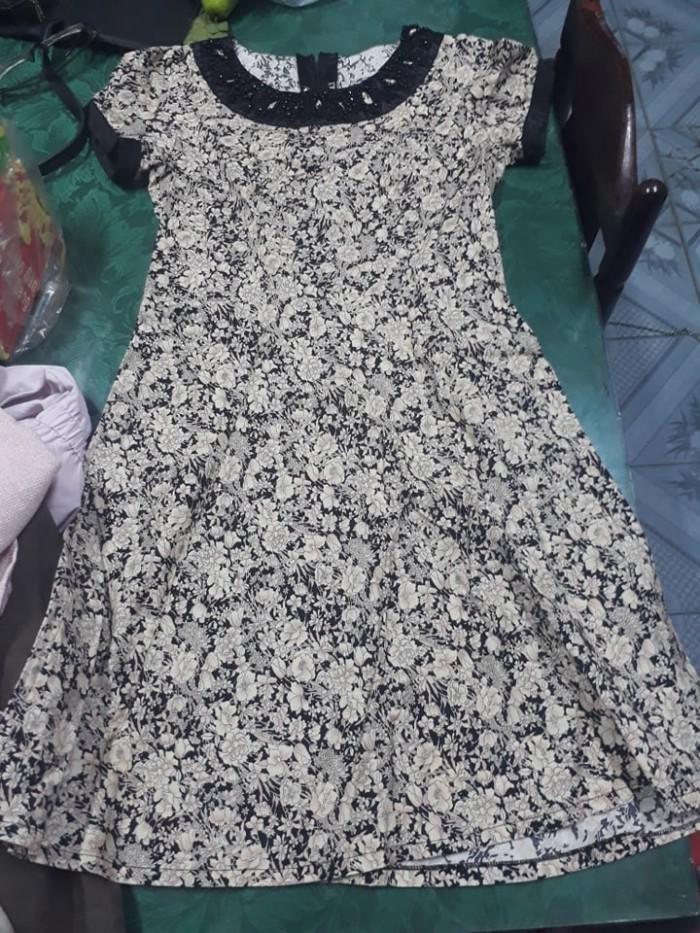 Đầm hoa công sở mshuyen010