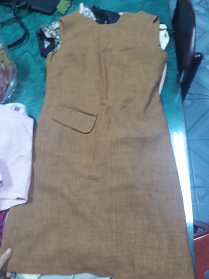 Đầm Suông Công Sở Đắp Túi2