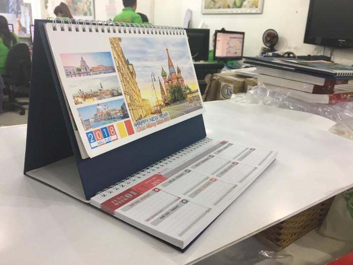 In lịch để bàn chữ A - Gửi file đặt in lịch về Email: in@inkts.com - innhanh@inkyth...