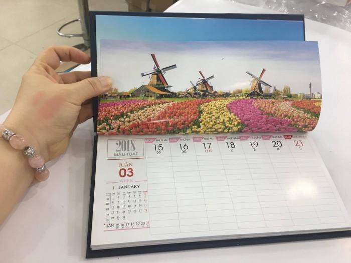 In lịch để bàn - lịch bàn chữ A, lich 53 tuần, lịch 2 tầng