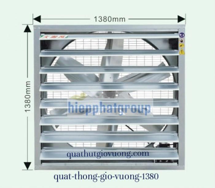 Quạt thông gió vuông 1380x1380x400