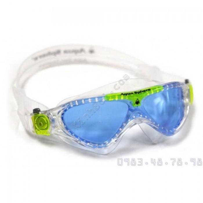 Kính Bơi Mắt Rộng Trẻ Em AquaSphere Vista Jr - Xanh0