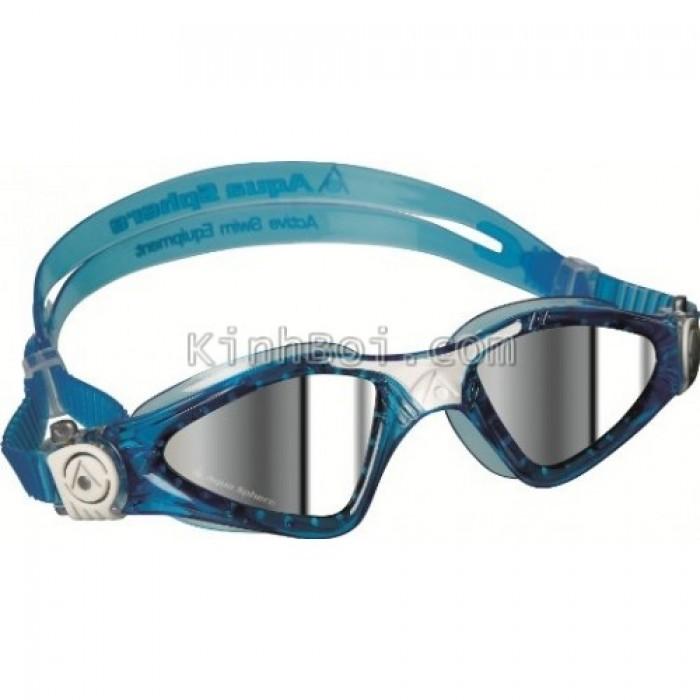 Kính Bơi Aqua Sphere - Xanh Mắt Tráng Gương - Sx Tại Italy (dòng small fit)0