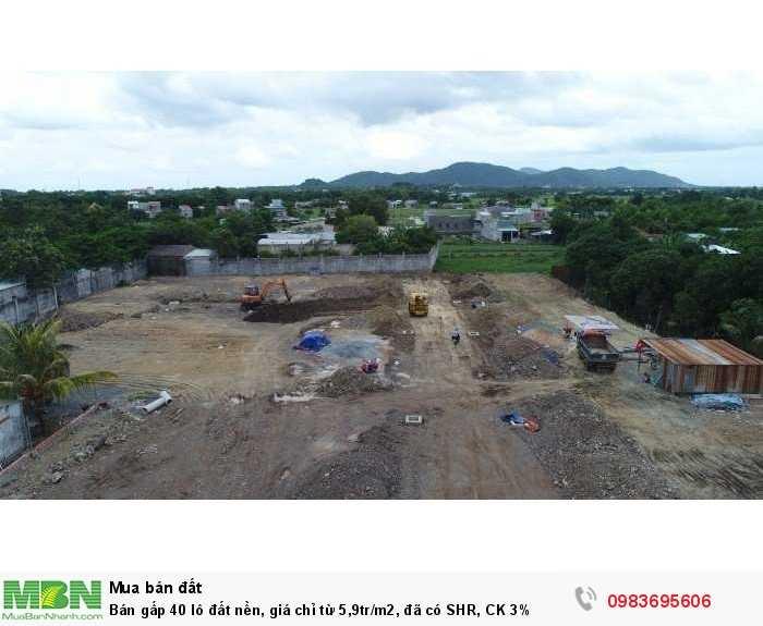 Bán gấp 40 lô đất nền, giá chỉ từ 5,9tr/m2, đã có SHR, CK 3%